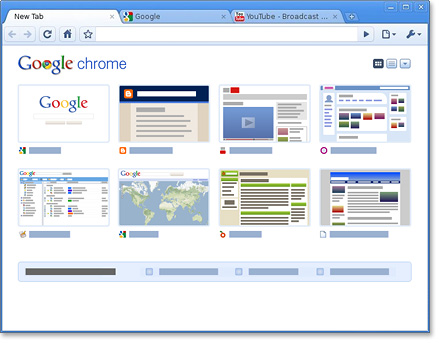 halaman google chrome