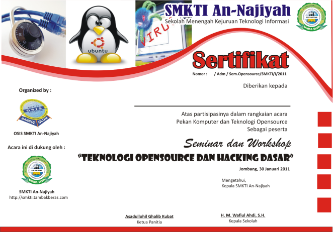 Sertifikat Workshop
